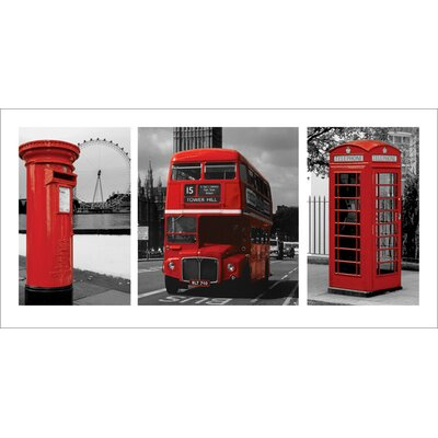 Art Group London, Red Triptych Graphic Art