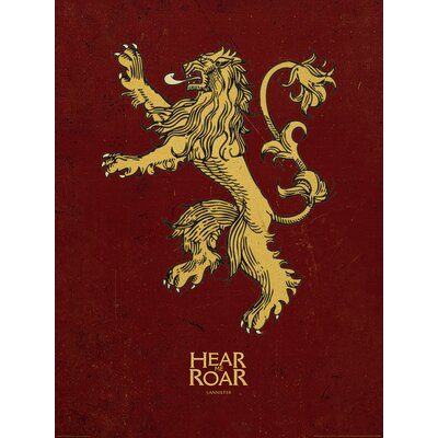 Art Group Game of Thrones, Lannister Graphic Art