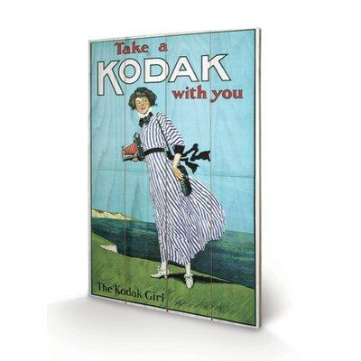 Art Group Kodak Girl Vintage Advertisement Plaque