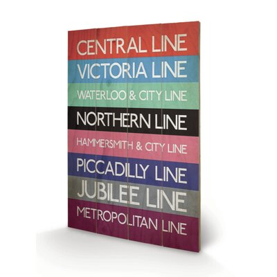 "Art Group London Transport ""9"" Typography Plaque"