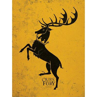 Art Group Game of Thrones, Baratheon Graphic Art