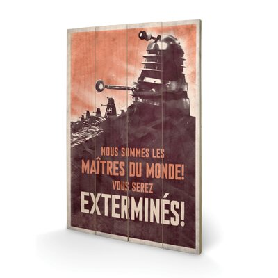 Art Group Doctor Who Extermines Vintage Advertisement Plaque