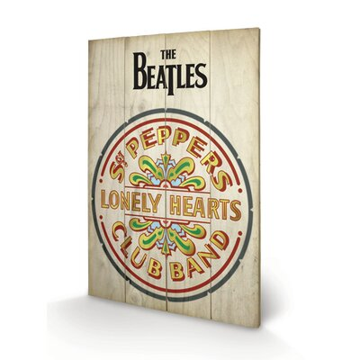 Art Group The Beatles Sgt Peppers Vintage Advertisement Plaque