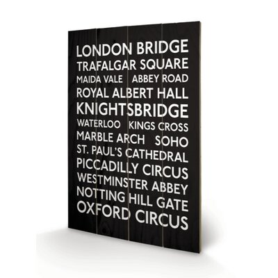 "Art Group London Transport ""10"" Typography Plaque"