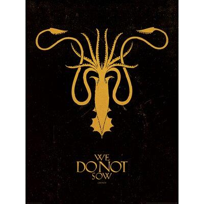 Art Group Game of Thrones, Greyjoy Graphic Art
