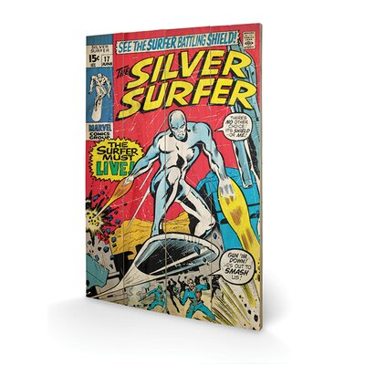 Art Group Silver Surfer Must Live Graphic Art Plaque