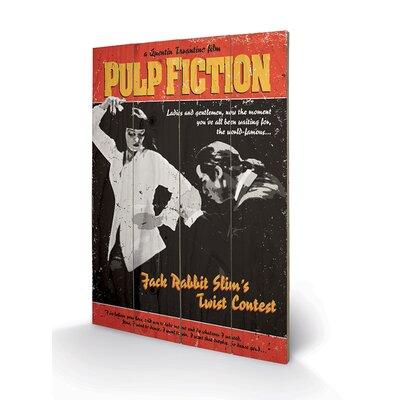 Art Group Pulp Fiction Twist Contest Vintage Advertisement Plaque