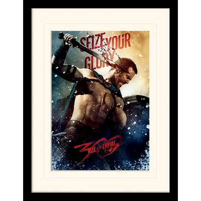Art Group Seize Your Glory 300 Rise of An Empire Mounted Framed Vintage Advertisement