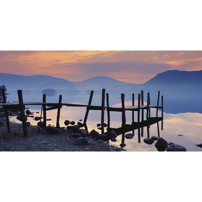 Art Group Derwent Water at Dawn, Cumbria by David Noton Photographic Print on Canvas