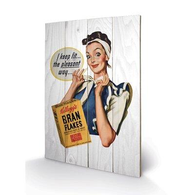 Art Group Vintage Kelloggs - I Keep Fit Vintage Advertisement Plaque