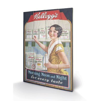 Art Group Vintage Kelloggs Morning - Noon and Night Vintage Advertisement Plaque