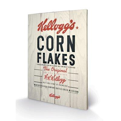 Art Group Vintage Kelloggs Corn Flakes Vintage Advertisement Plaque