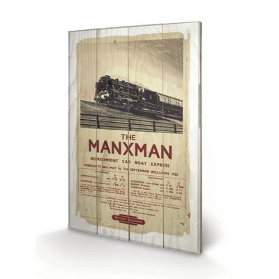 "Art Group Isle of Man ""The Manxman"" Vintage Advertisement Plaque"