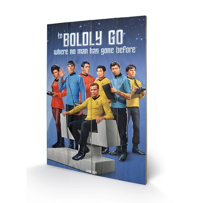 Art Group Star Trek Boldly Go Vintage Advertisement Plaque