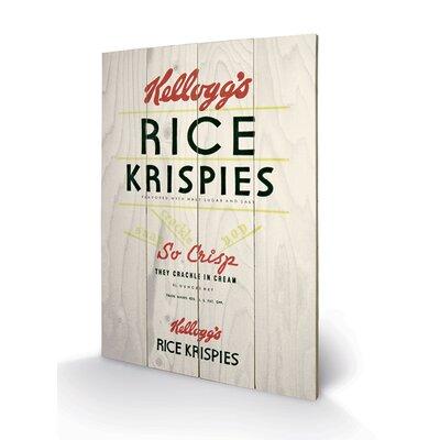 Art Group Vintage Kelloggs Rice Krispies Vintage Advertisement Plaque