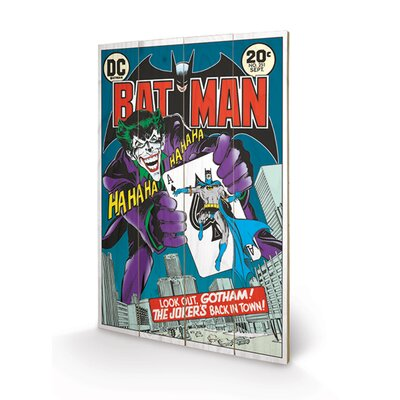 Art Group DC Comics The Joker's Back In Town Vintage Advertisement Plaque