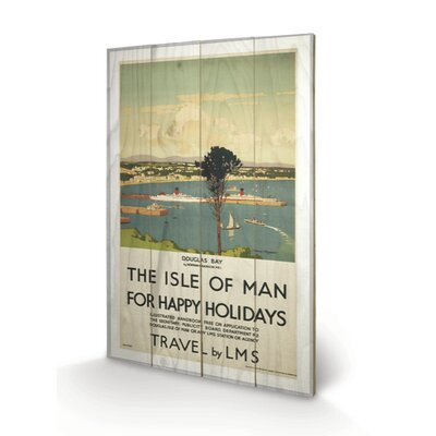 "Art Group Isle of Man ""Happy Holidays"" Vintage Advertisement Plaque"