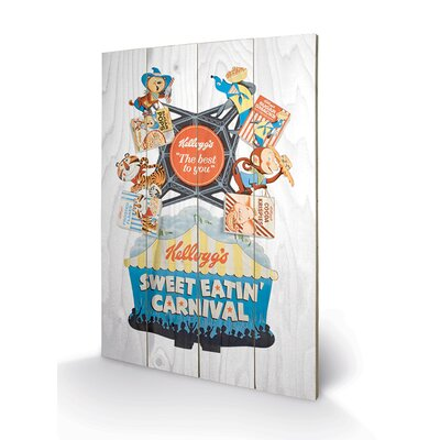 Art Group Vintage Kelloggs - Sweet Eatin Carnival Vintage Advertisement Plaque