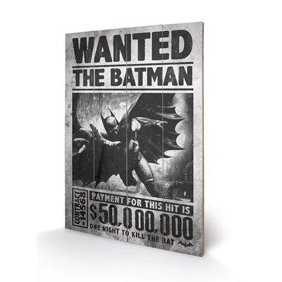 Art Group Batman Arkham Origins, Wanted Vintage Advertisement Plaque