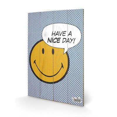 Art Group Smiley Have A Nice Day - Dots Graphic Art Plaque