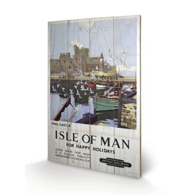 "Art Group Isle of Man ""Peel Castle"" Vintage Advertisement Plaque"