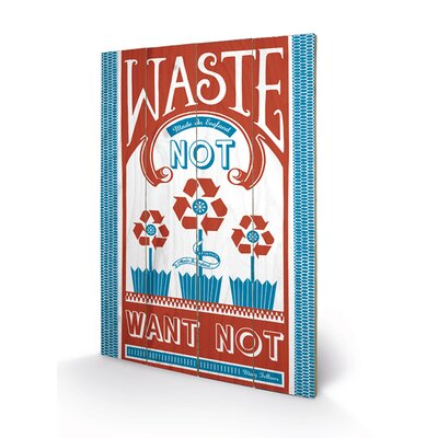 Art Group Waste Not Want Not by Mary Fellows Graphic Art Plaque