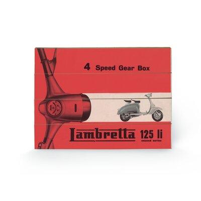 "Art Group Lambretta Li 4 Speed Gear Box"" Vintage Advertisement Plaque"