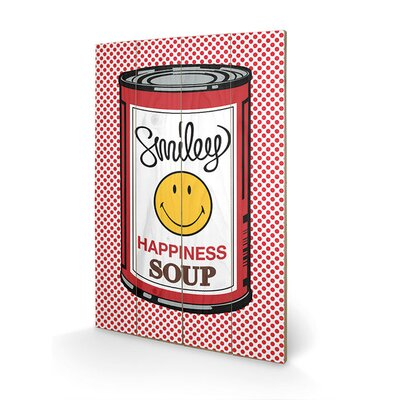 Art Group Smiley Happiness Soup Vintage Advertisement Plaque
