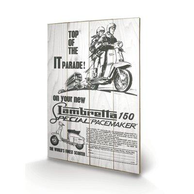 "Art Group Lambretta ""Top of The IT Parade"" Vintage Advertisement Plaque"