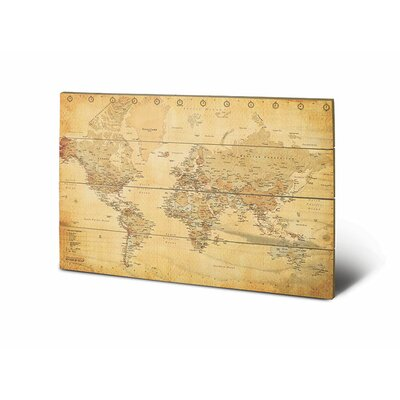 Art Group World Map Graphic Art Plaque