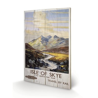 "Art Group Isle of Skye ""1"" Vintage Advertisement Plaque"