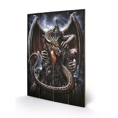 Art Group Spiral Dragon Lava Graphic Art Plaque
