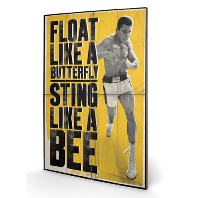 Art Group Muhammad Ali Float Like A Butterfly Vintage Advertisement Plaque