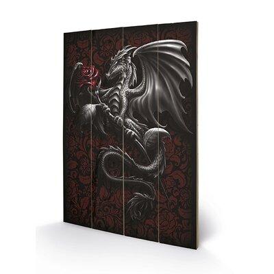 Art Group Spiral Dragon Rose Graphic Art Plaque