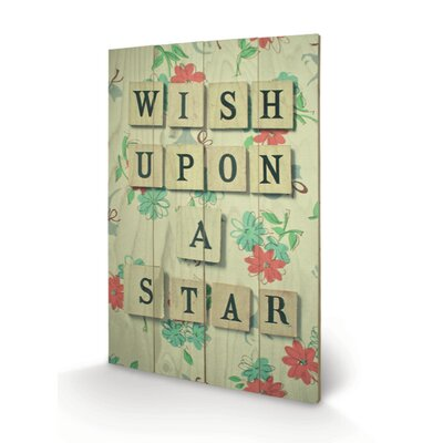 Art Group Wish Upon a Star by Cassia Beck Typography Plaque