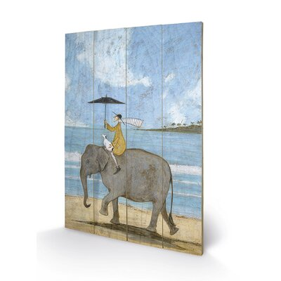 Art Group On The Edge of The Sand by Sam Toft Art Print Plaque