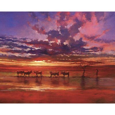 Art Group African Sunset by Jonathan Sanders Art Print on Canvas