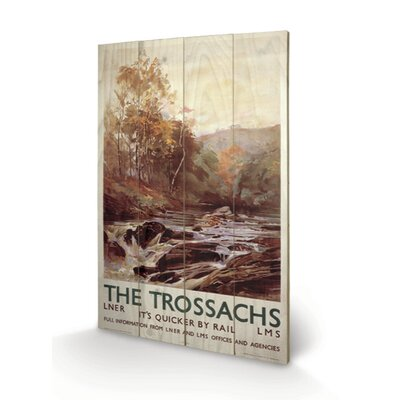 Art Group The Trossachs Vintage Advertisement Plaque