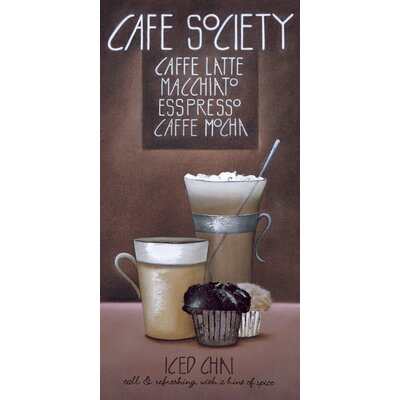 Art Group Cafe Society by Mandy Pritty Canvas Wall Art