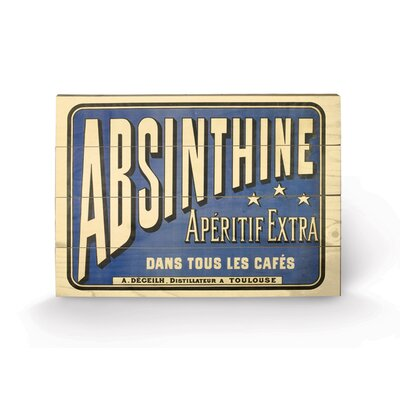 Art Group Absinthe Typography Plaque