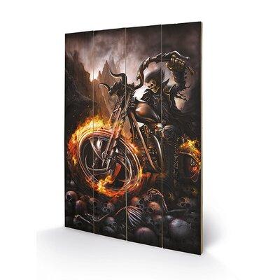 Art Group Spiral Wheels of Fire Graphic Art Plaque