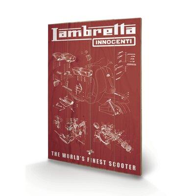 "Art Group Lambretta ""Worlds Finest Scooter"" Vintage Advertisement Plaque"