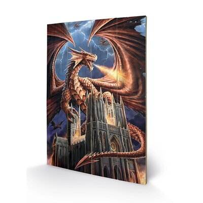 Art Group Hellrider by Anne Stokes Graphic Art Plaque