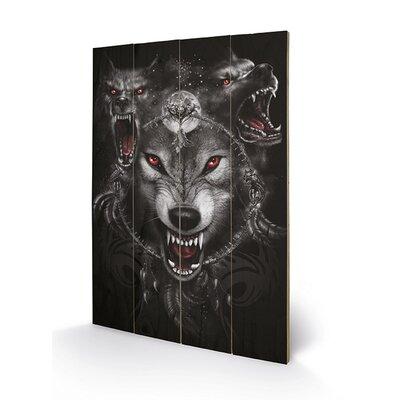 Art Group Spiral Wolf Triad Graphic Art Plaque