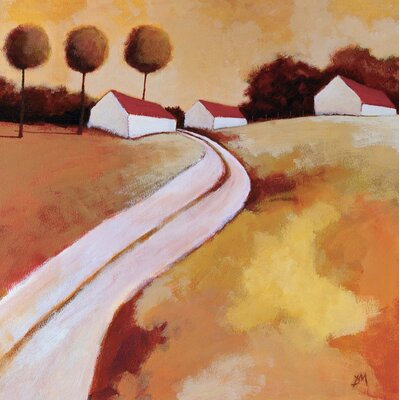 Art Group Red Roofs by Derek Melville Canvas Wall Art