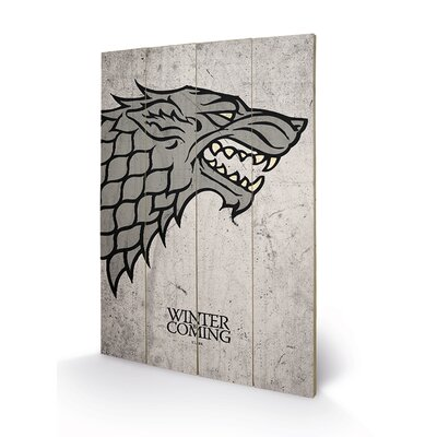 Art Group Game of Thrones, Stark Graphic Art Plaque