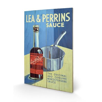 Art Group Lea and Perrins, the Vintage Advertisement Sauce Plaque