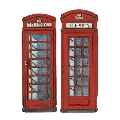Art Group Telephone Boxes by Barry Goodman Canvas Wall Art
