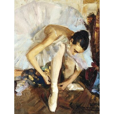 Art Group Ballerina Fixing Her Shoe by Vasily Bratanyuk Canvas Wall Art