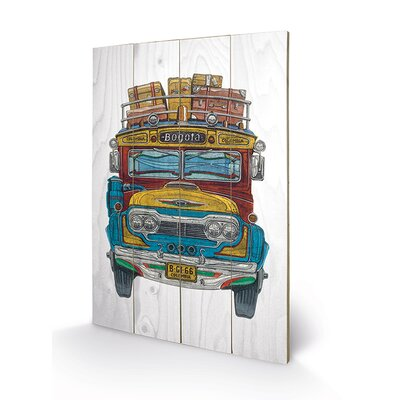 Art Group Columbian Bus by Barry Goodman Graphic Art Plaque
